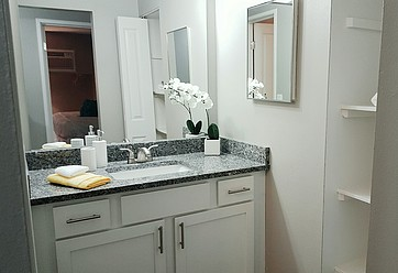 Beautiful Updated Bathrooms with Tile Throughout